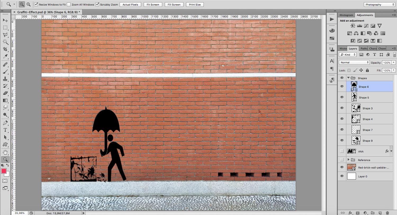Shapes for a stencil graffiti effect