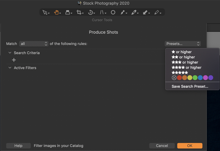 Organizing Photos in Capture One Pro - Star Ratings