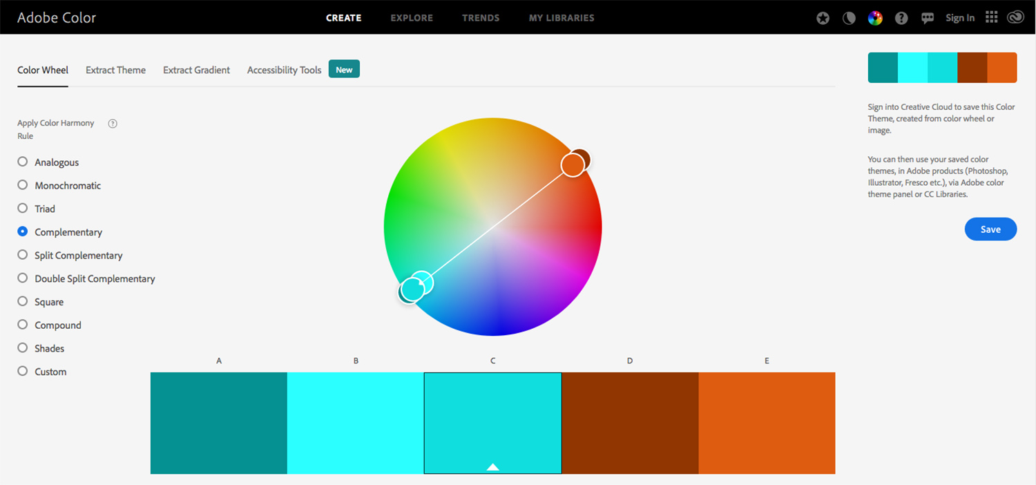 Adobe Color Website