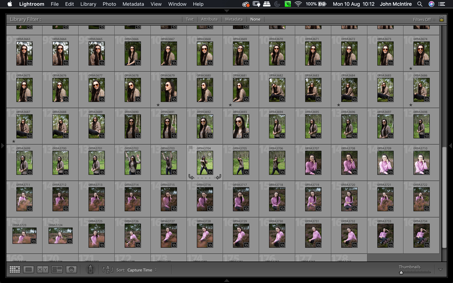 Having a lot of photos from a shoot makes culling images even more important.