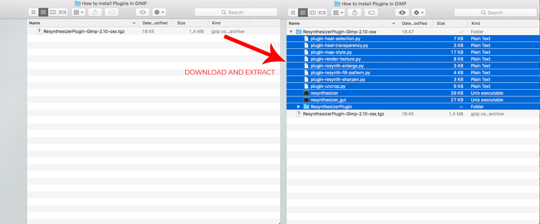 Downloading and installing GIMP plugins