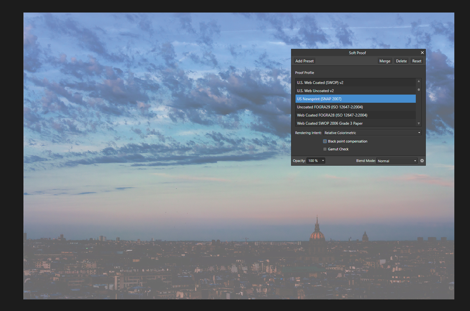 Affinity photo black point compensation color management in Affinity Photo