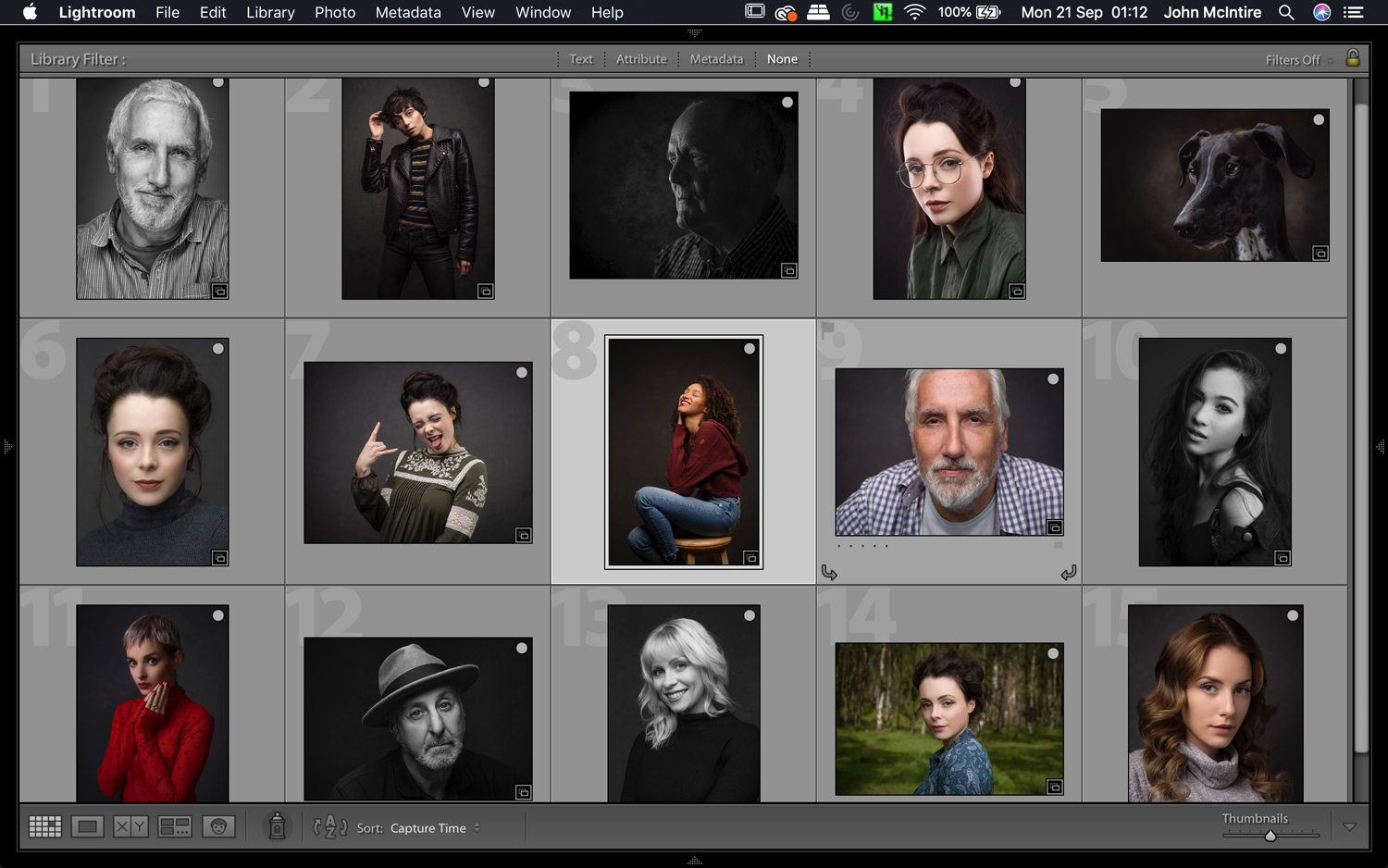 consistent Lightroom catalog