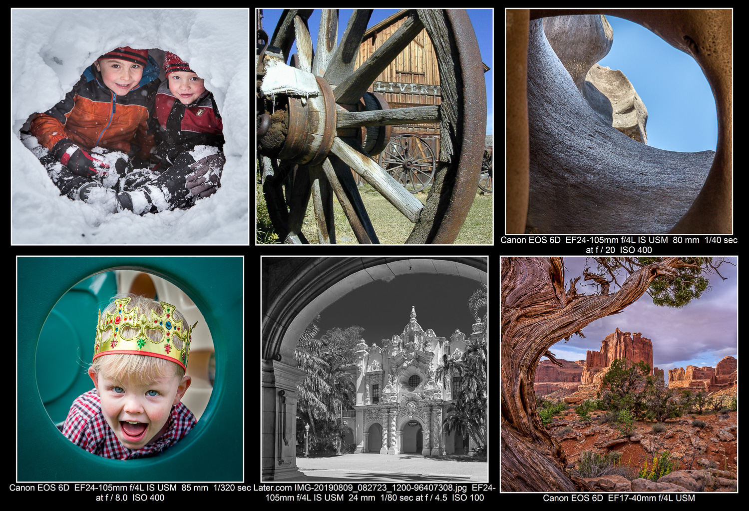"Find ""natural frames"" to enhance your photos."