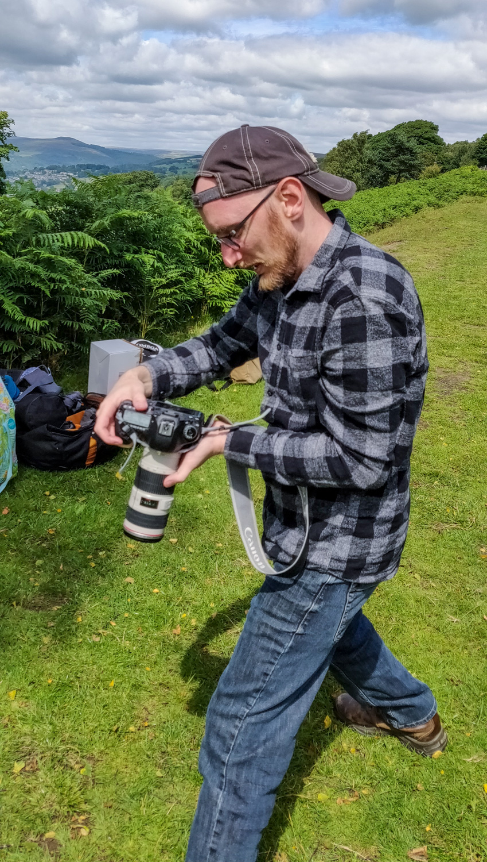 pessoa com câmera
