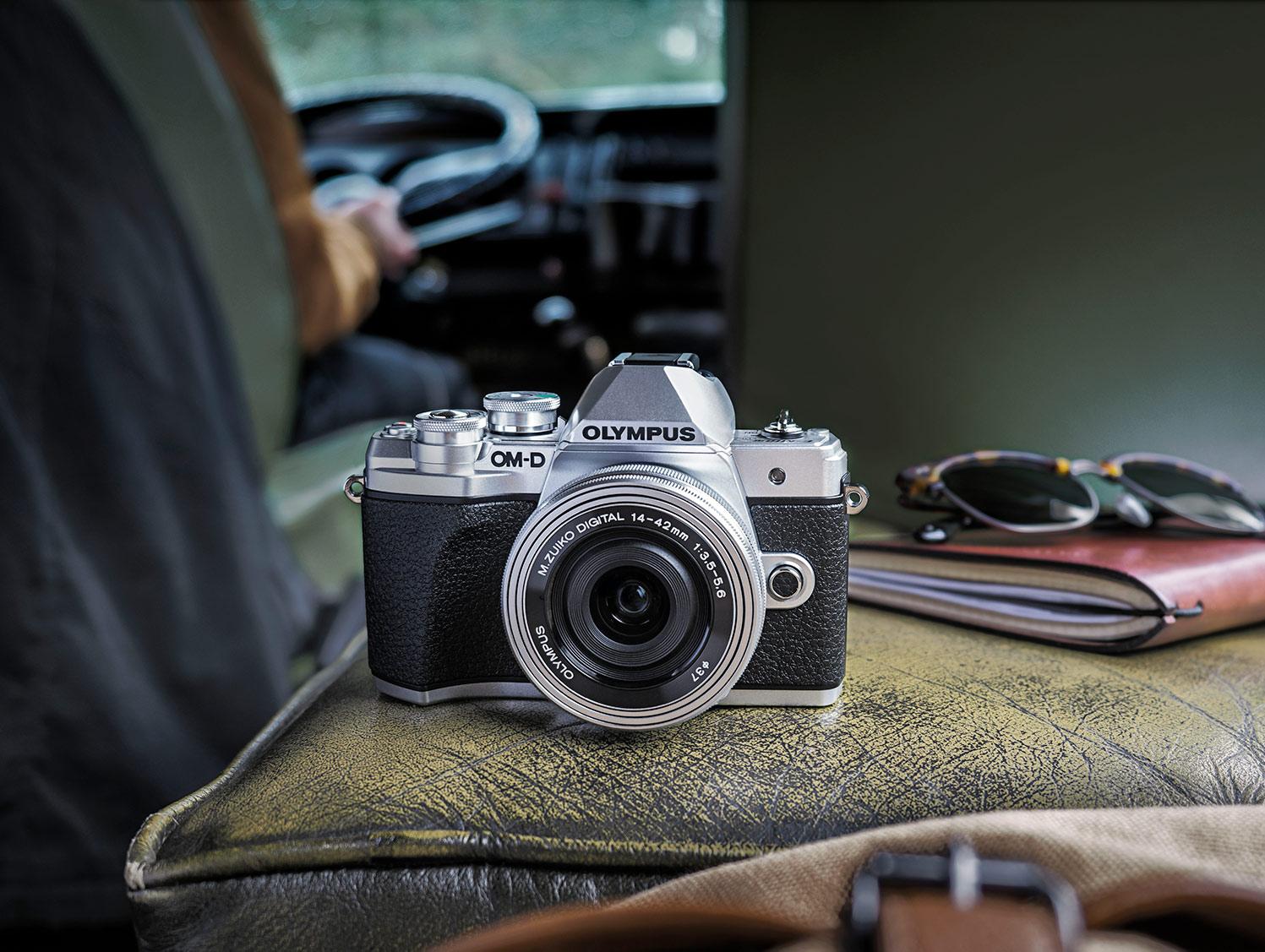 A lifestyle shot of an Olympus OMD camera Olympus sale
