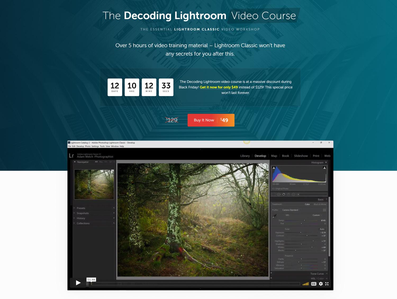 Decodificando o vídeo do Lightroom em contraste