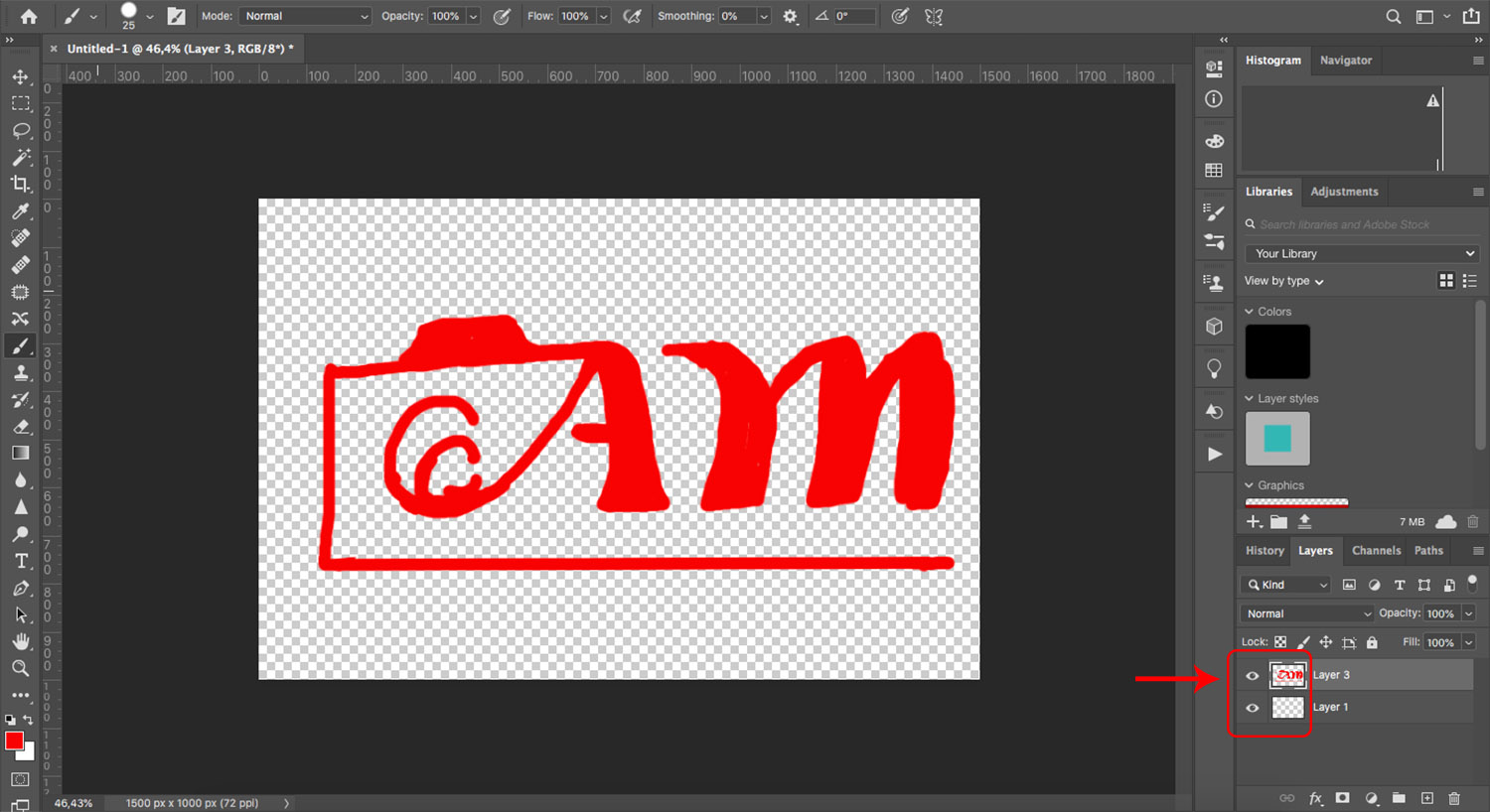 Turn a sketch into a watermark using the pen tool