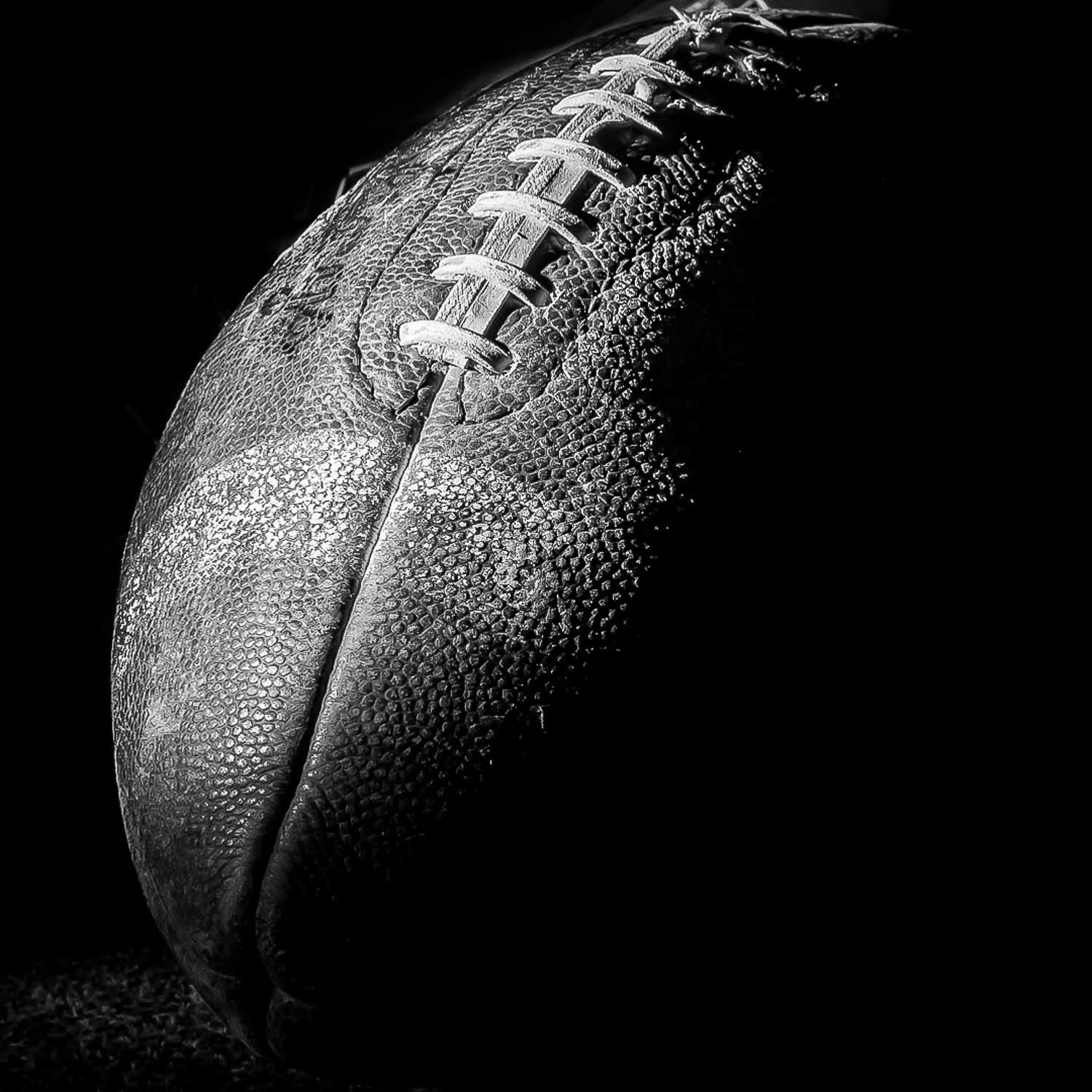 football with light and shadow