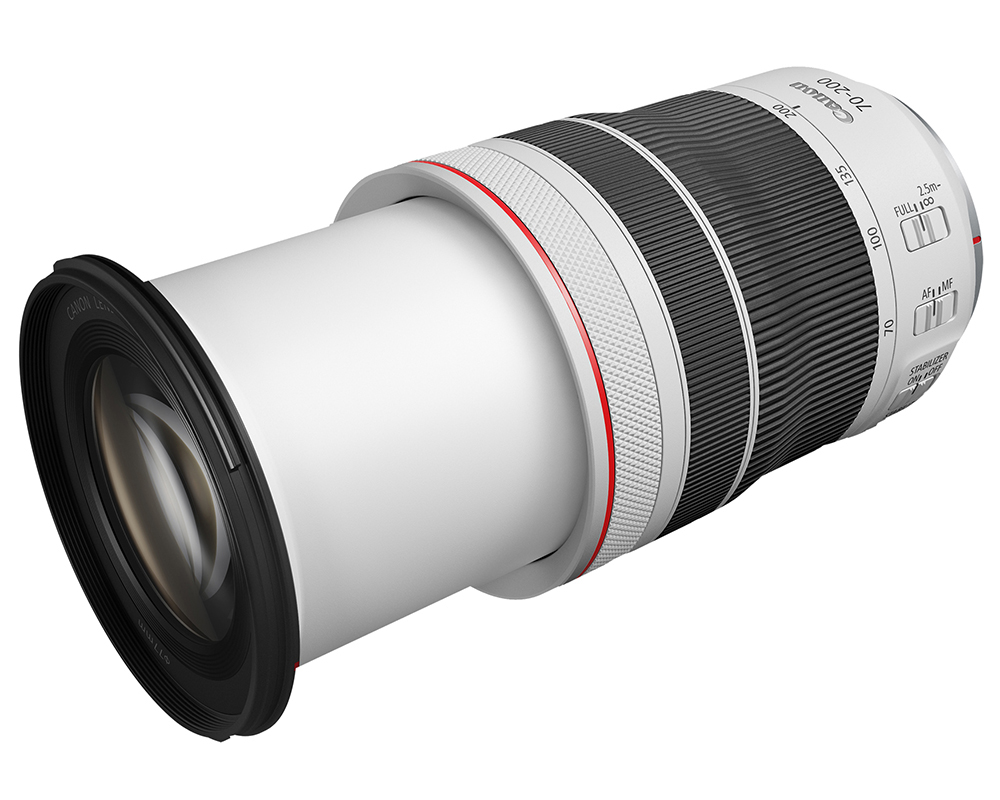 Canon's new RF lens, the 70-200mm f/4L IS