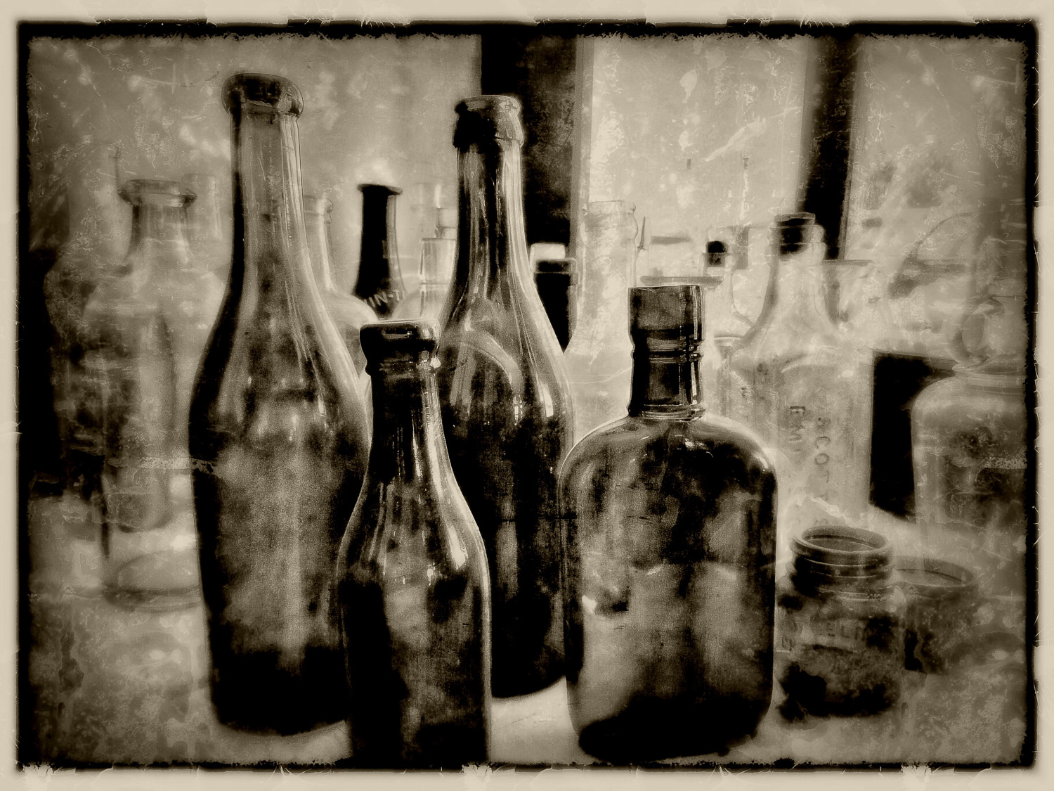 bottles with faded edit
