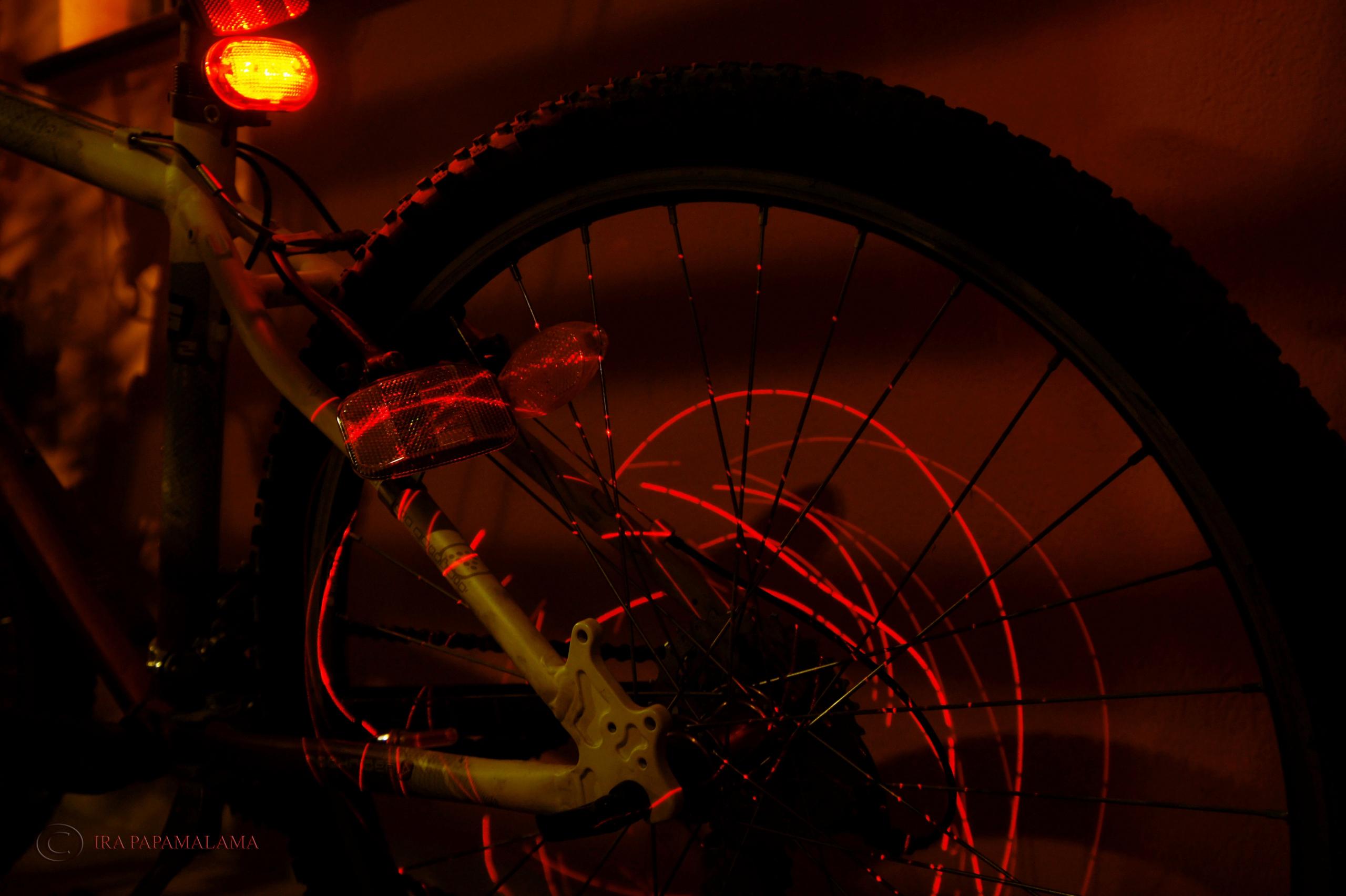 bicicleta de pintura leve