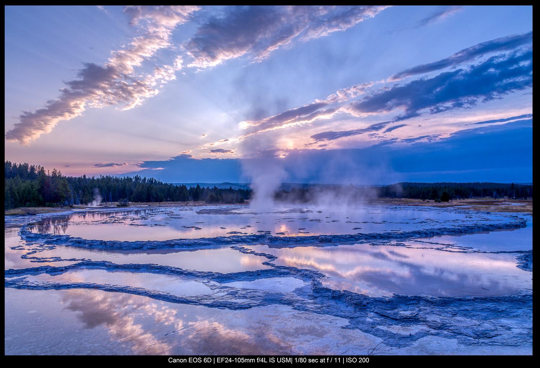 Grand Fountain Geyser em Yellowstone
