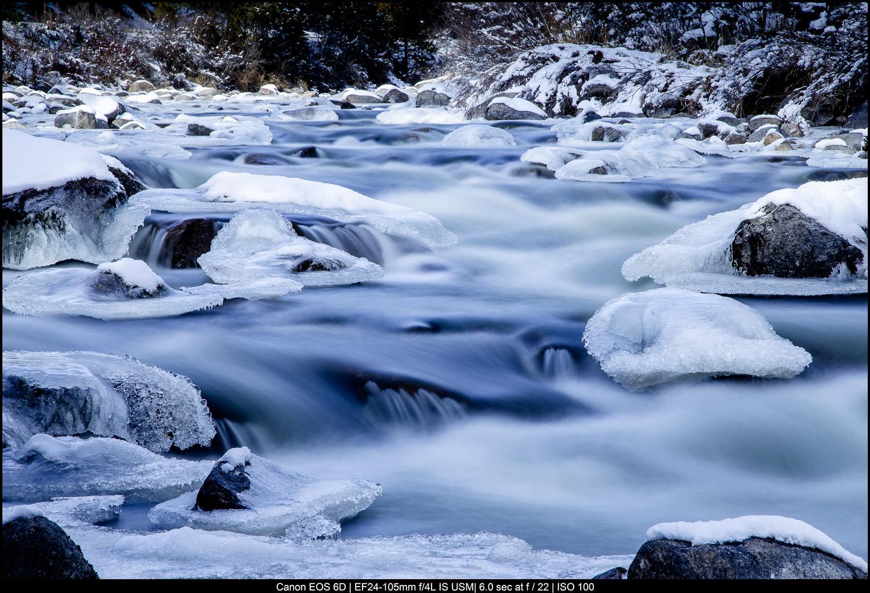 Belas artes Fotografia Paisagem - água corrente