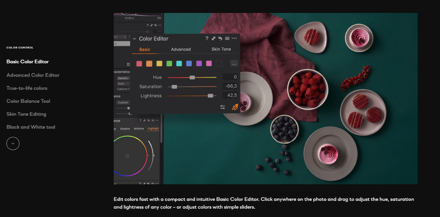 Capture One 21 release color tools