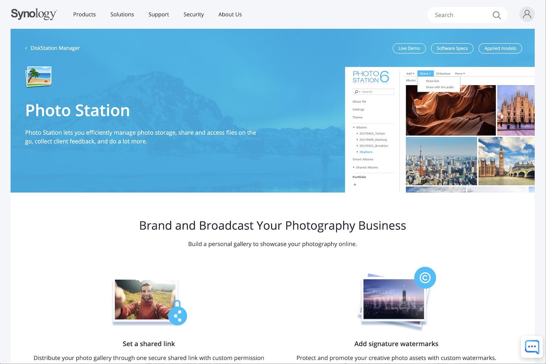 Best Online Photo Storage Synology Photo Station