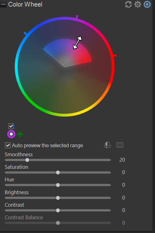 selecting only desaturated colors