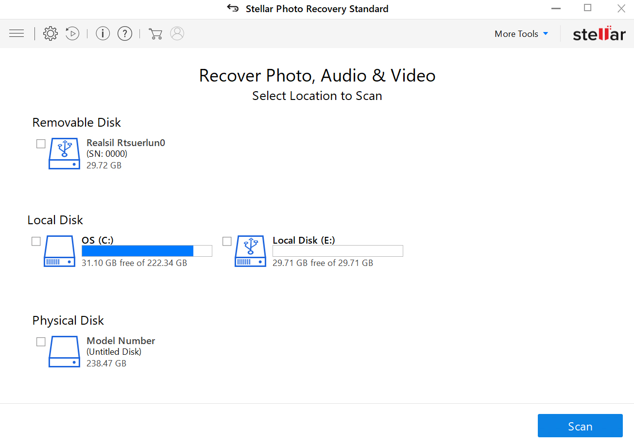 Stellar Photo Recovery software review folders