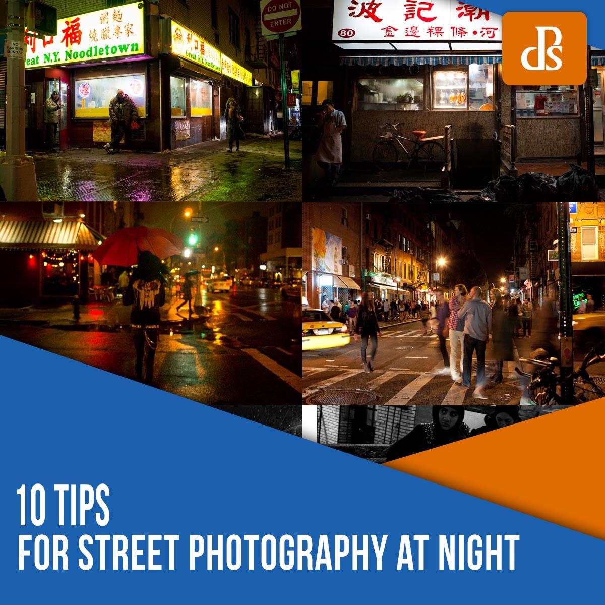 dicas de fotografia de rua à noite