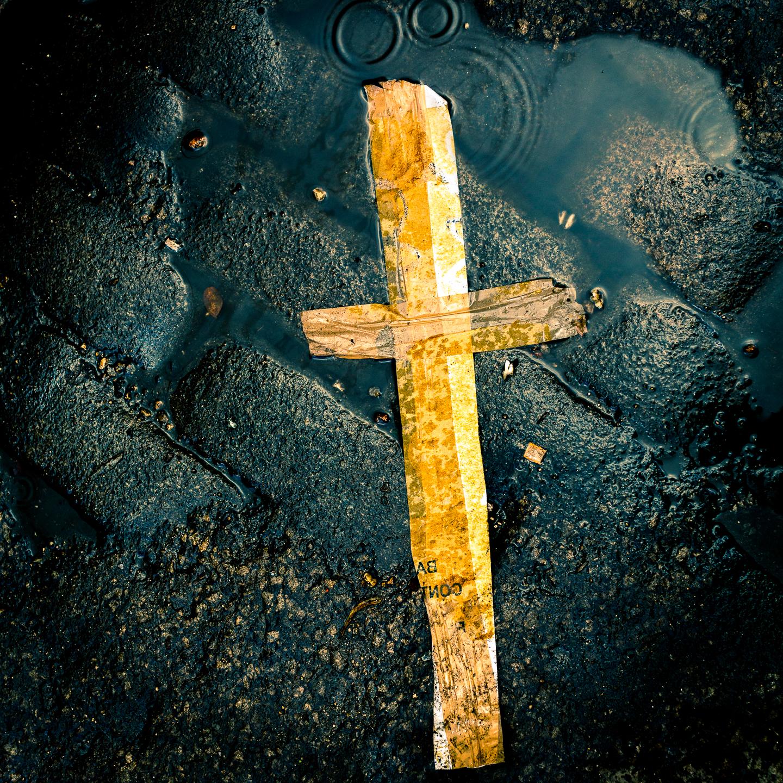 cross in the road