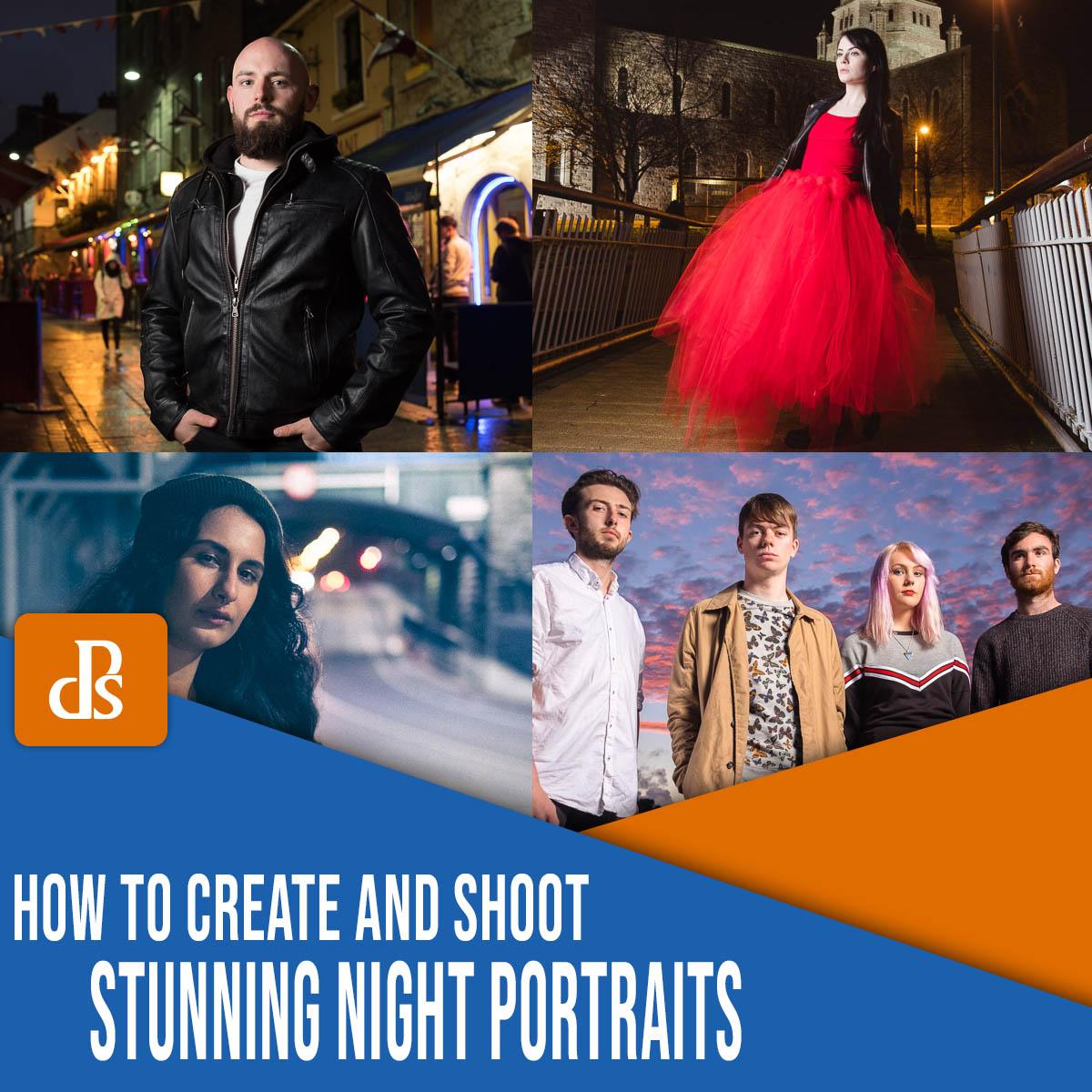 como criar e fotografar retratos noturnos