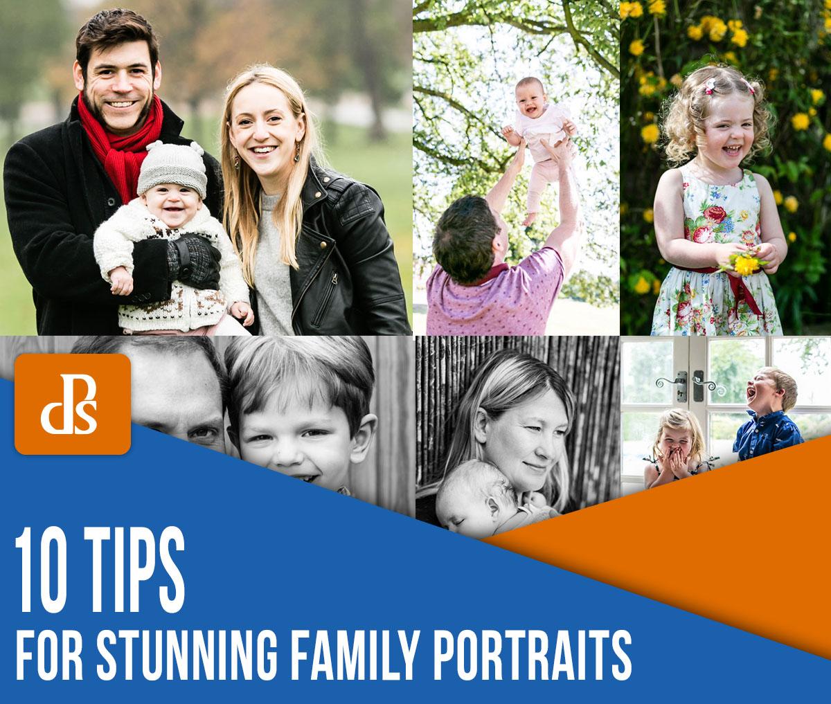 dicas para retratos de família