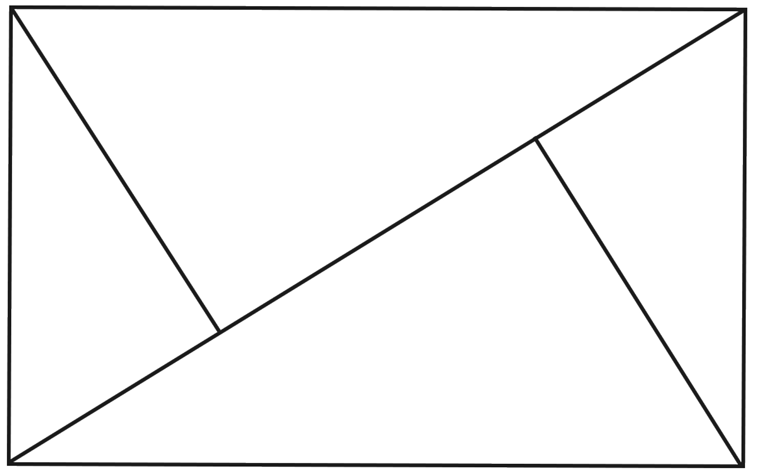 A diagram of the golden triangle composition rule