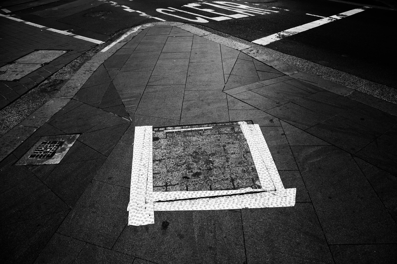 triangles on a sidewalk