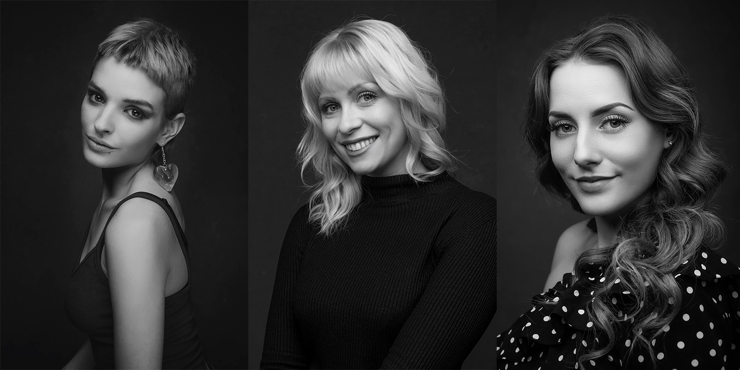 Tips for better black and white headshots.