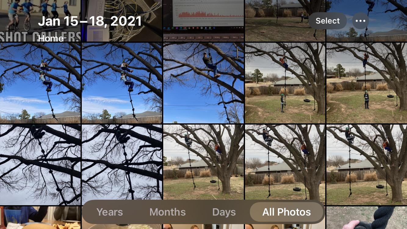 biblioteca de fotos do iPhone
