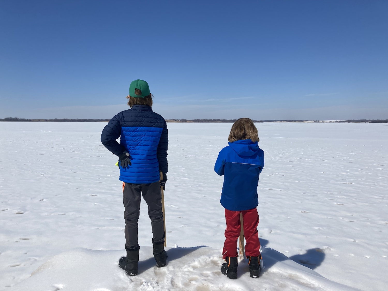 iPhone Live Photos crianças congeladas em lago