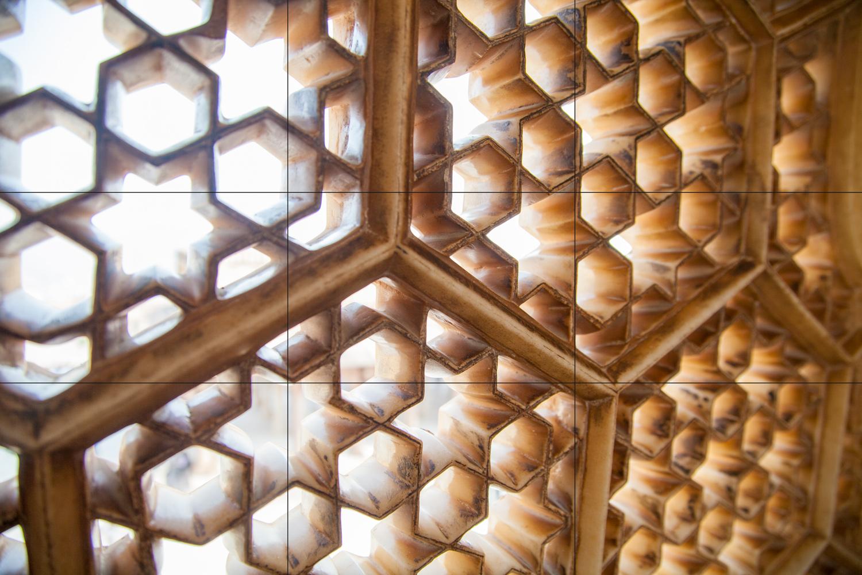 rule of thirds example pattern in window