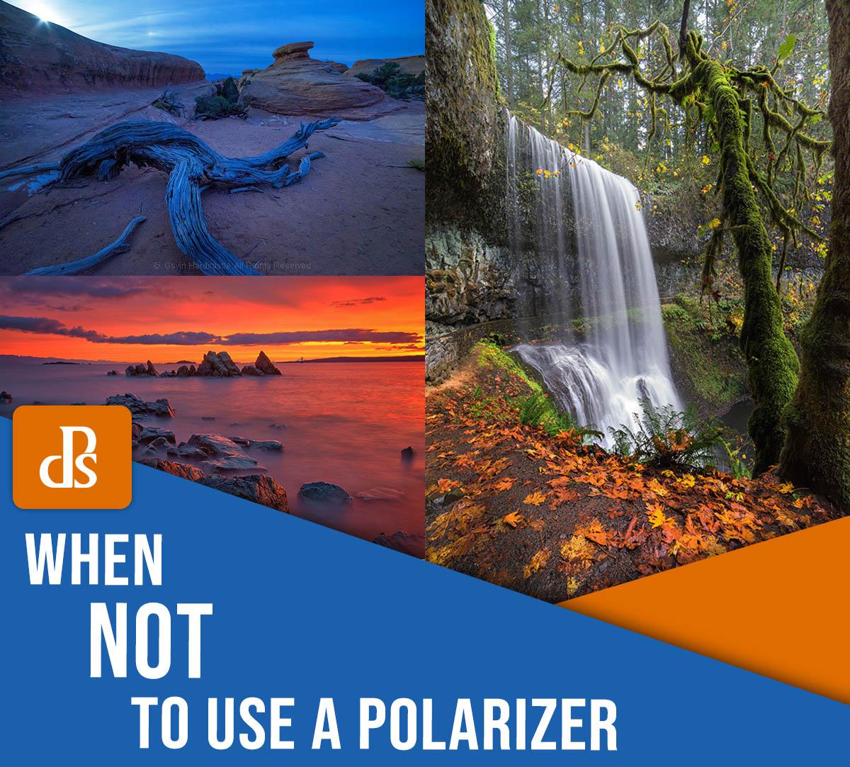 Quando não usar um filtro polarizador