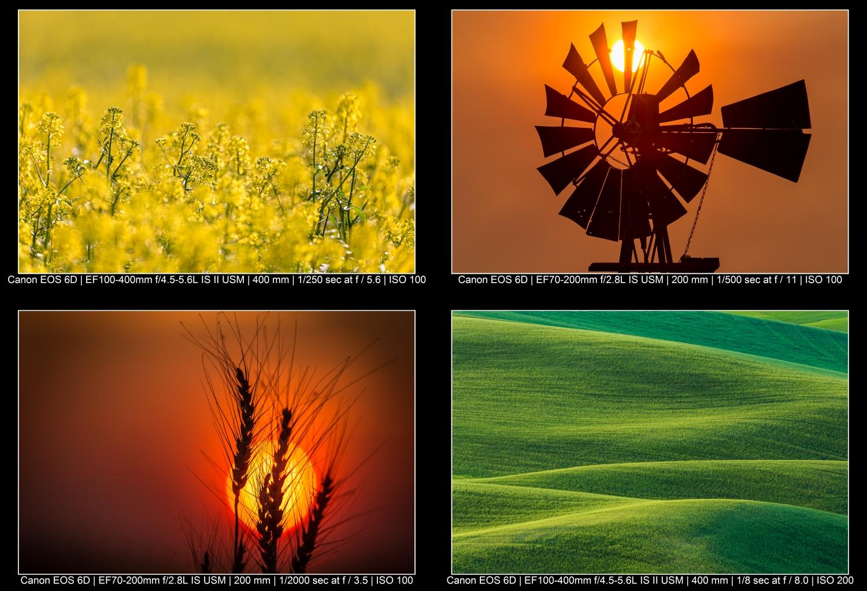 exemplos de fotografia de paisagem colorida