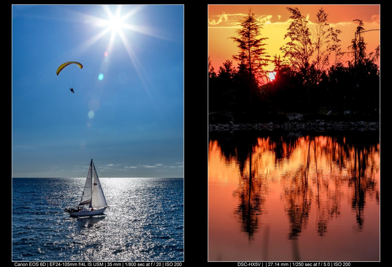 Fotografia de paisagens coloridas no verão