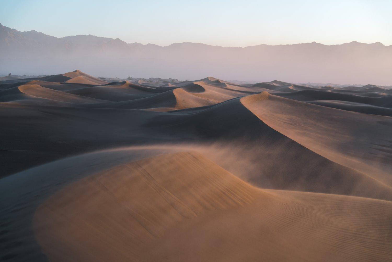 dunas de areia com regra dos terços da composição da paisagem