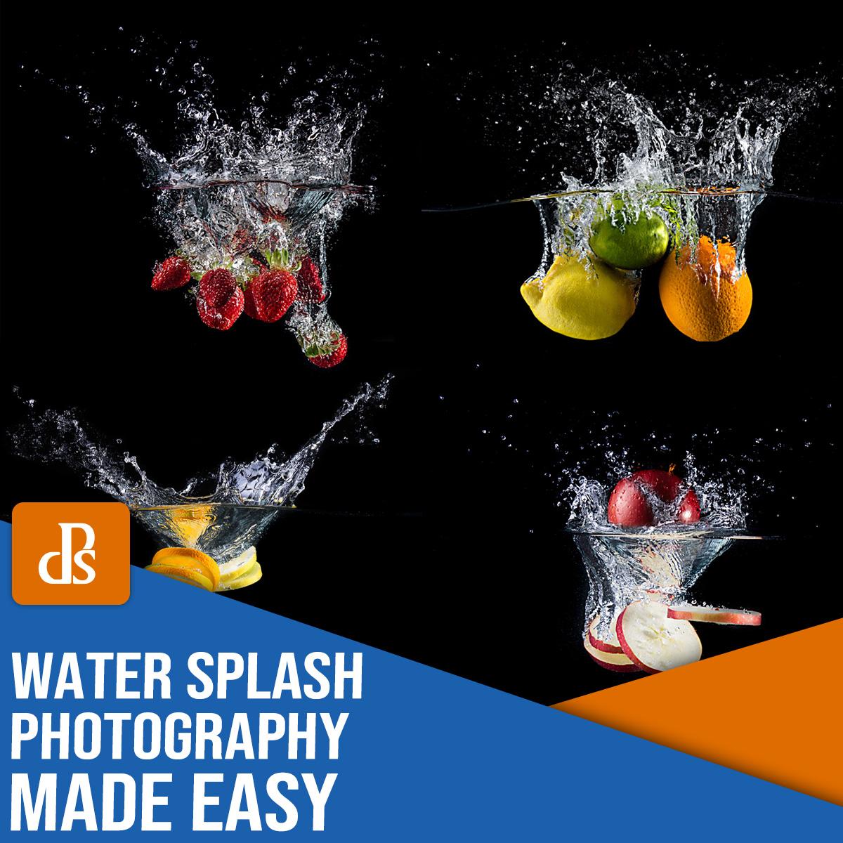 fotografia fácil com respingos de água