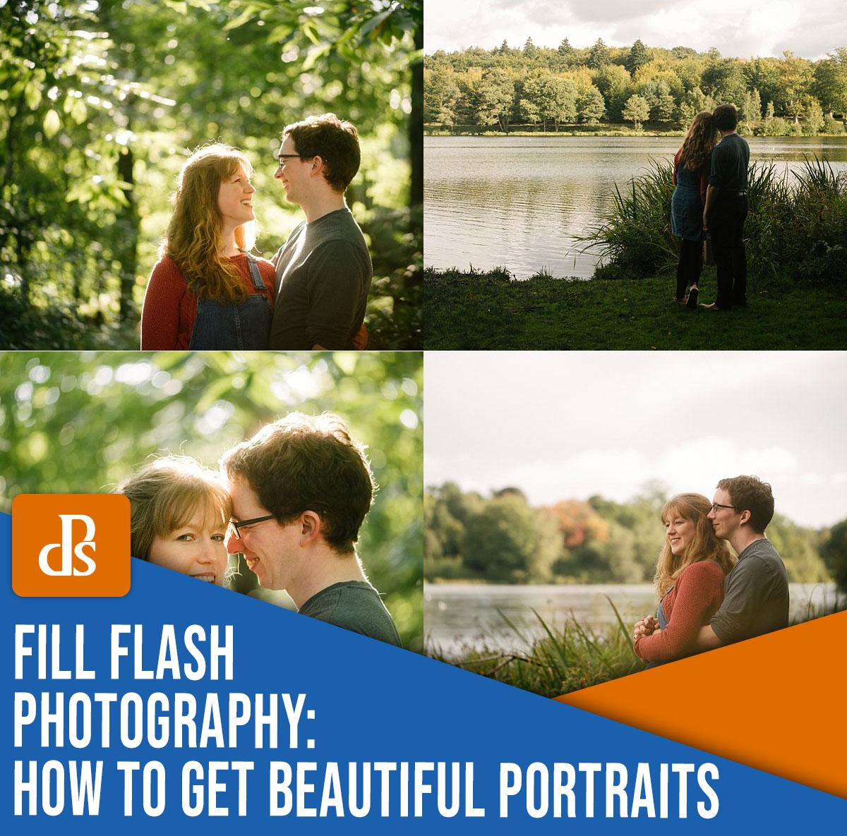 preencha fotografia com flash como obter belos retratos