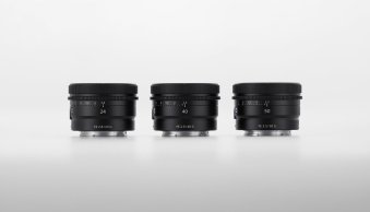 Sony Unveils Three Compact Prime Lenses for E-Mount Cameras