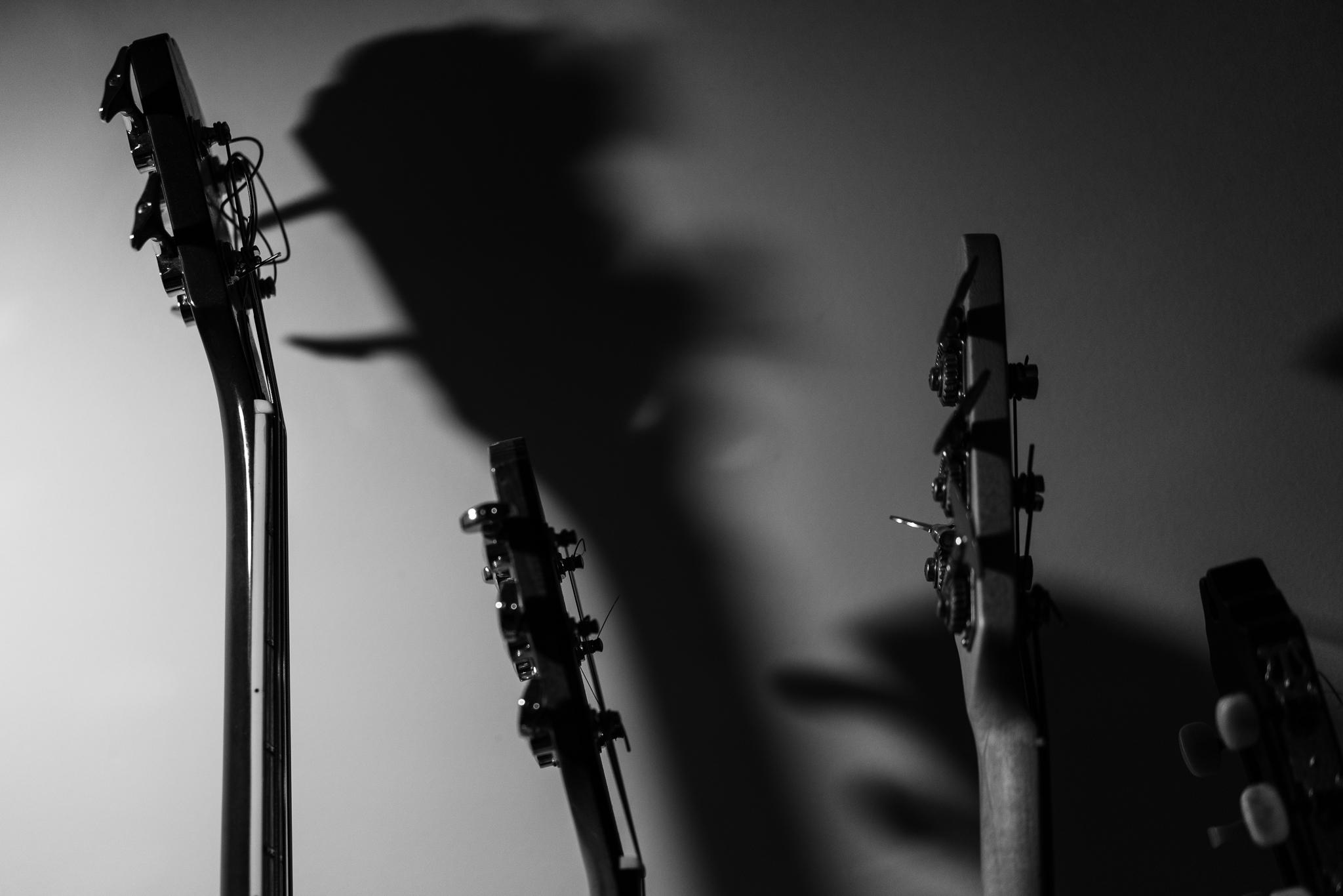 Guitarras preto e branco