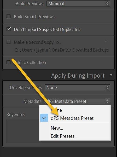 dPS metadata preset