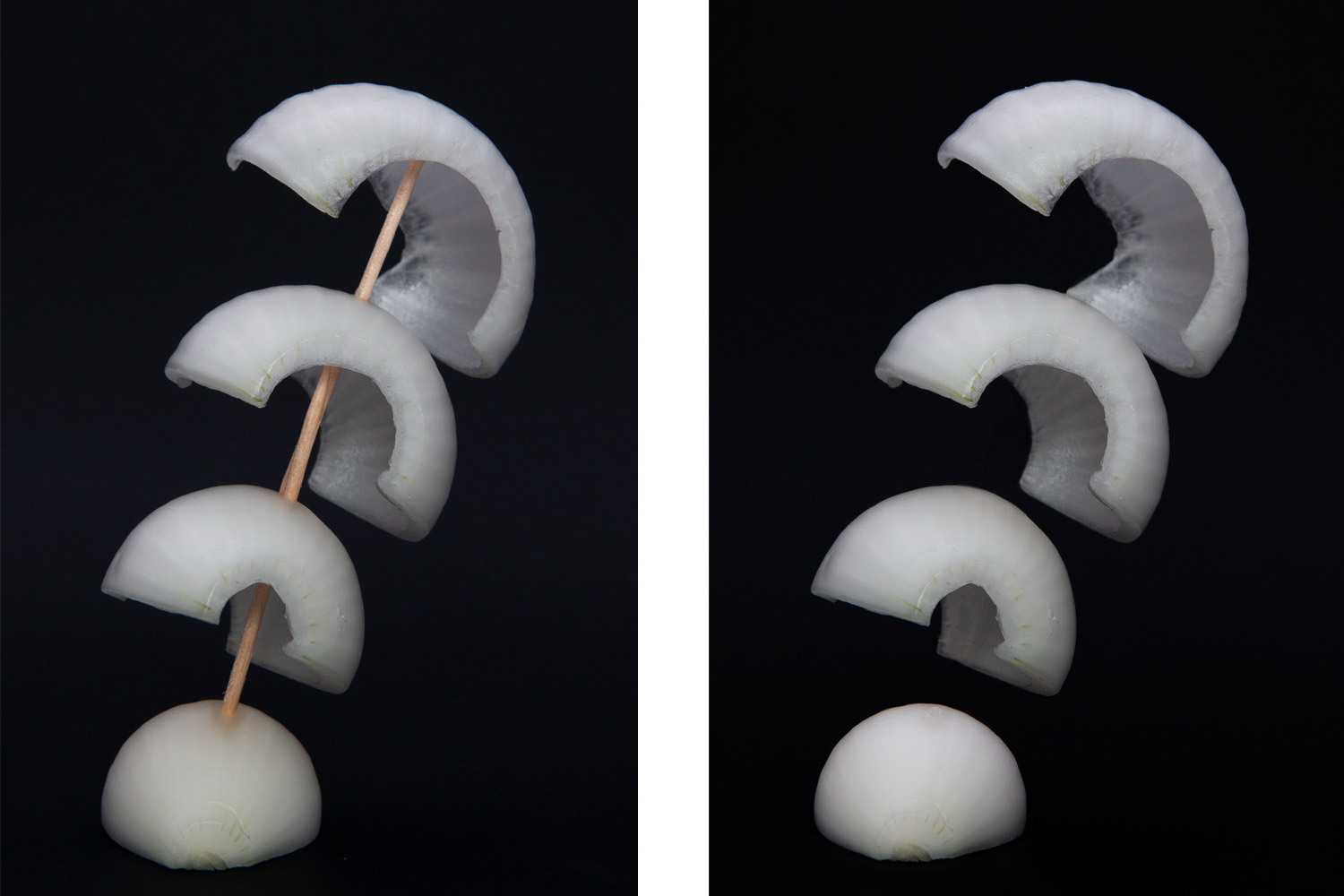 creating a levitation onion photo (before and after)
