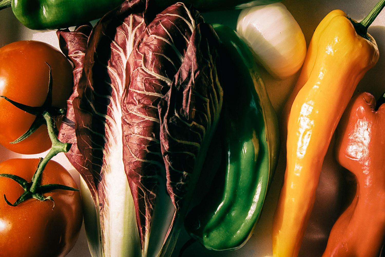 many vegetables arranged together