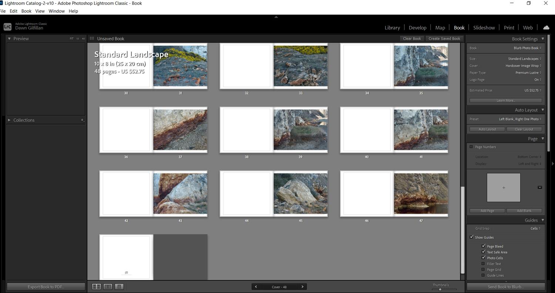 Lightroom photobook template