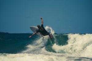 Davey Surfing by Simon Pollock