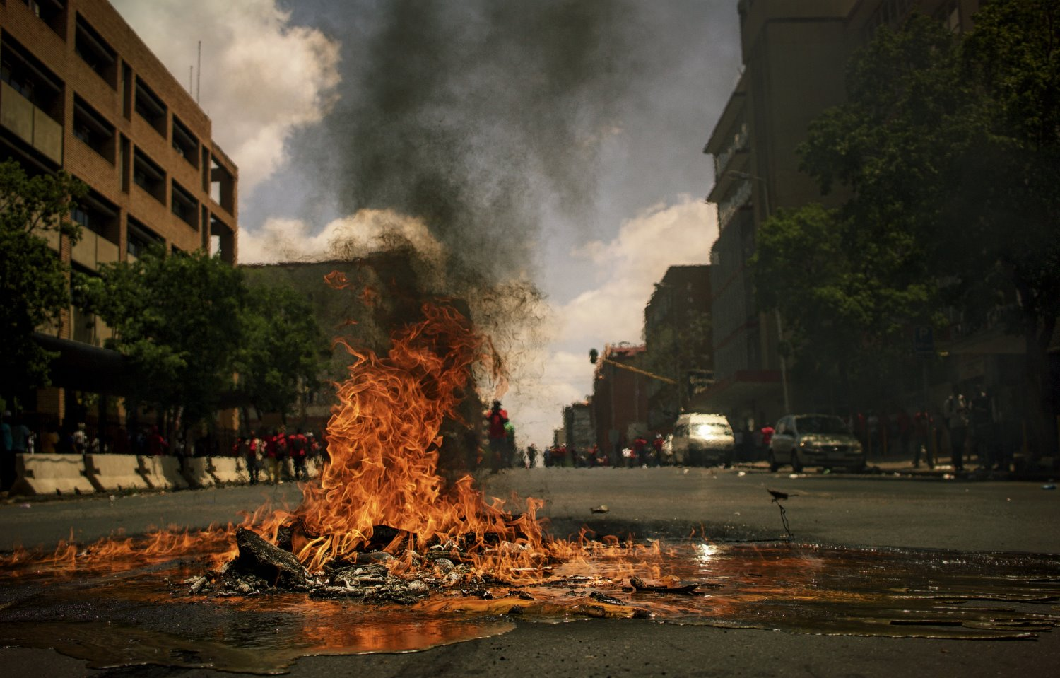 fire in the street photo essay