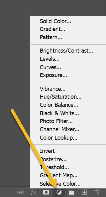 creating a new adjustment layer