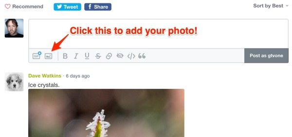 dpS How To Add disqus photo