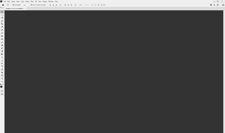The Photoshop layout