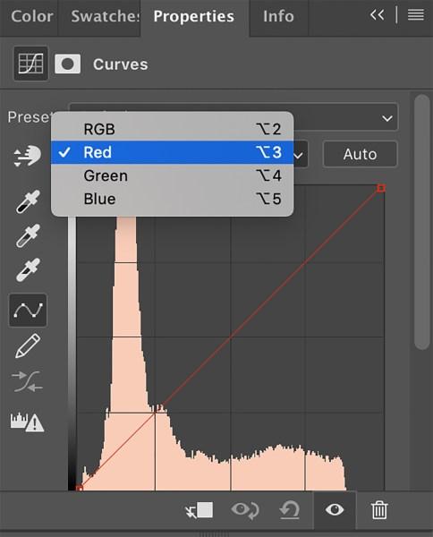 adjusting Curves in Photoshop